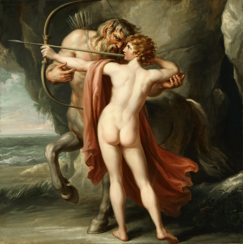 Chiron Instructing Achilles in the Bow