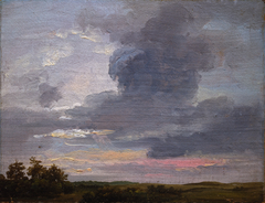 Cloud Study over flat Landscape