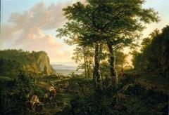Copy of an Italian Landscape by Jan Both