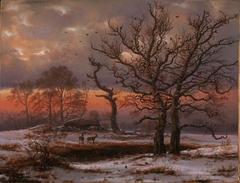 Danish Winter Landscape with Dolmen