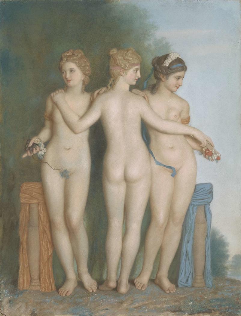 De drie Gratiën naar het antieke Romeinse beeld in de Borghese verzameling te Rome