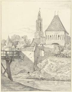 De Slijkpoort en L. Vrouwentoren te Amersfoort