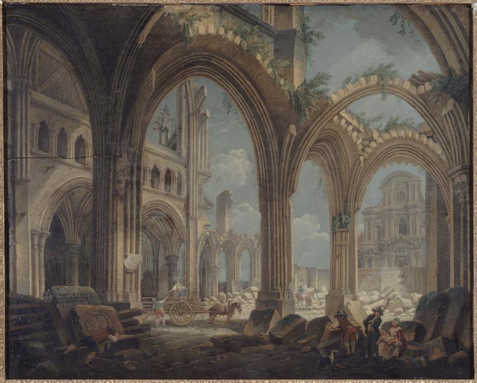 Démolition de l'église Saint-Jean-en-Grève, en 1800