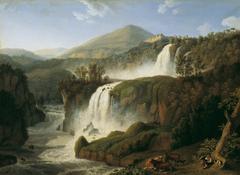 Der große Wasserfall von Tivoli bei Rom