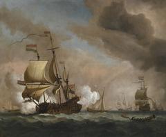 Dutch Flagship in a Fresh Quartering Breeze