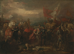 Edward III with the Black Prince after the Battle of Crécy