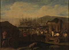 Embarco de tropas de artillería