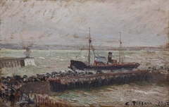 Entrance to the Harbour at Le Havre, Overcast Sky