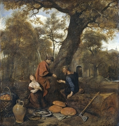 Erysichthon selling his daughter