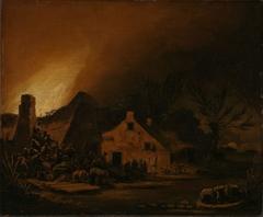 Fire in a Farmhouse