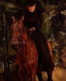 Fräulein von Holzhausen zu Pferd