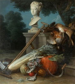 Garden Still Life, with Implements, Vegetables, Dead Game, and a Bust of Ceres (The Attributes of Hunting and Gardening)