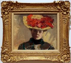 Girl in Straw Hat