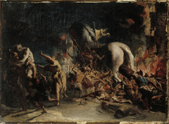 Greeks entering Troy