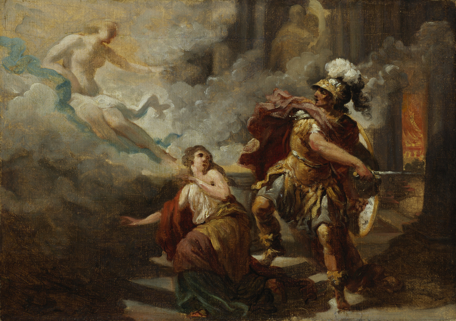 Helen Saved by Venus from the Wrath of Aeneas