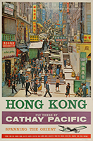 Hong Kong, fly there Cathay Pacific, spanning the Orient