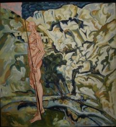 Human figure infront of a Landscape