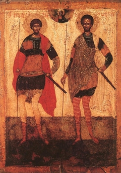 Icon: Sts Theodore Stratelates and Theodore Tyron