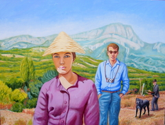 In Provence they encountered the ghost of Cezanne (2012) 122 x 91 cm, oil on linen
