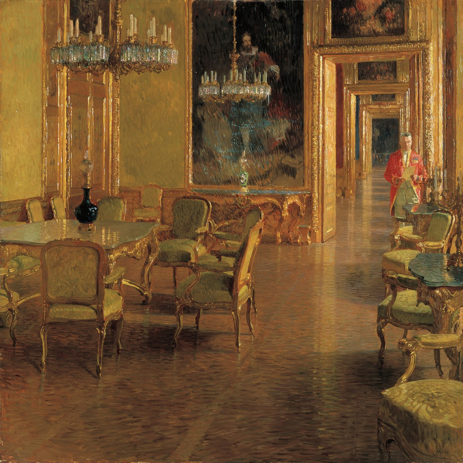 Interieur im Winterpalais des Prinzen Eugen von Savoyen in der Himmelpfortgasse