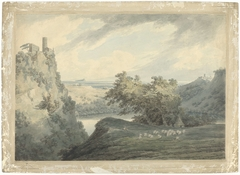 Italian Mountainous Landscape with Lake Nemi