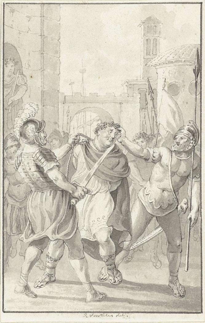Keizer Vitellius op weg naar zijn terechtstelling
