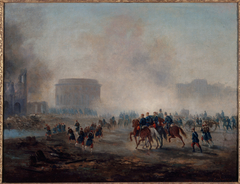 La Villette cernée par les troupes versaillaises, mai 1871.
