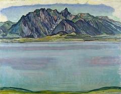 Lake Thun and the Stockhorn Mountains