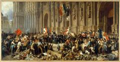Lamartine refusant le drapeau rouge devant l'Hôtel de Ville