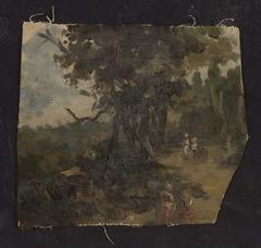 Landscape fragment, sketch