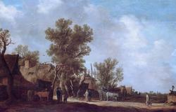 Landscape with farmhouses