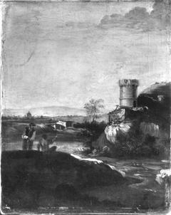 Landschaft italienischen Charakters (Umkreis)