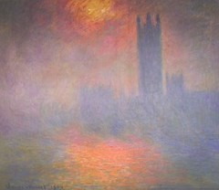 London, the Houses of Parliament, Sunlight Opening in Fog