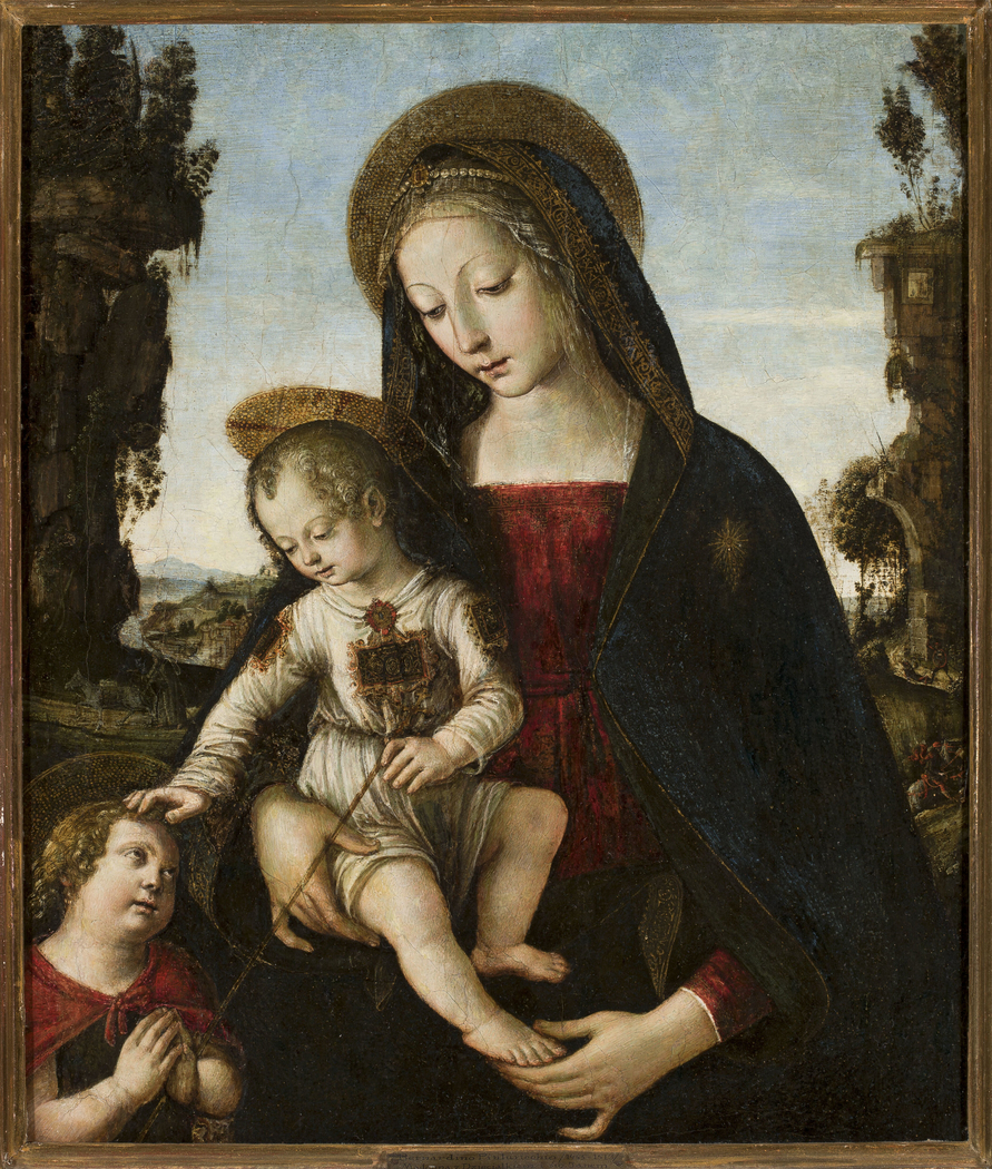 Madonna with Child Jesus and St. John
