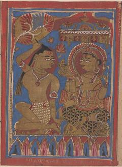 Mahavira Plucks Out His Hair: Folio from a Kalpasutra Manuscript
