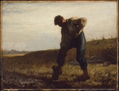 Man Turning over the Soil