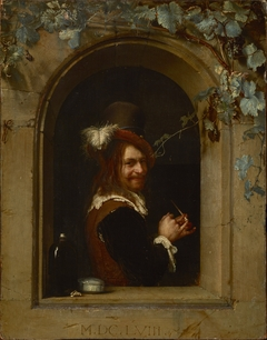 Man with Pipe at the Window