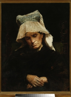 Old woman in a cap