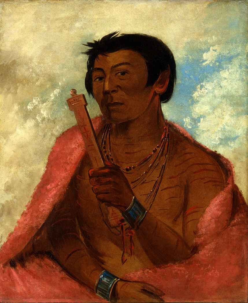 On-sáw-kie, The Sauk, in the Act of Praying