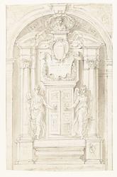 Ontwerp voor grafmonument van Jean Grusset, genaamd Richardot