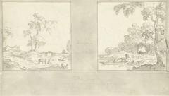 Ontwerp voor kamerwand met schilderingen voor P. de Jongh