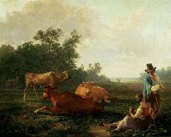 Pastoral scene.