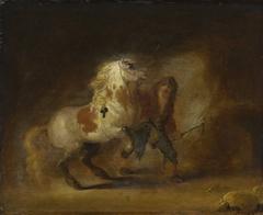 Pferd und Knecht (zugeschrieben)