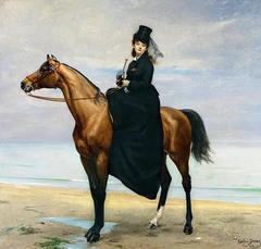 Portrait équestre de Mademoiselle Croizette