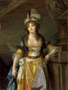 Portrait of a Lady in Turkish Fancy Dress