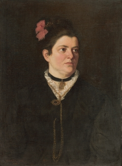 Portrait of a Lady with a Pink Bow