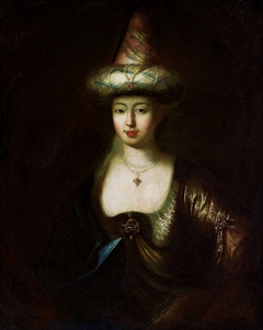Portrait of a woman in oriental costume.
