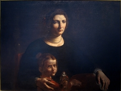 Portrait of a woman with a young girl