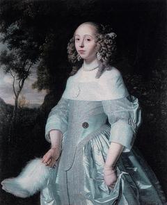 Portrait of Jeanne Parmentier, 1634-1710, wife of Louis de Geer