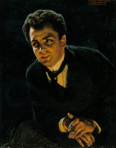 Portrait of the German Actor Rudolf Rittner